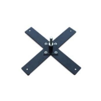 Příslušenství k vlajkám - Podstava křížová s rotátorem kovovým