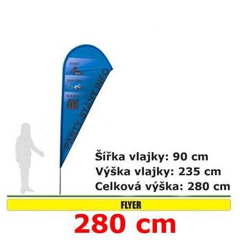 Reklamní vlajky - Reklamní vlajka Flyer 280cm