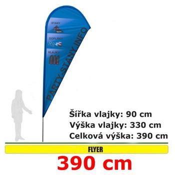 Reklamní vlajky - Reklamní vlajka Flyer 390cm