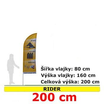 Reklamní vlajky - Reklamní vlajka Rider 200cm