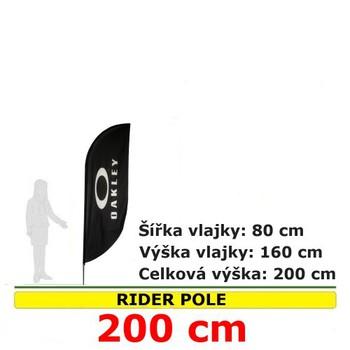 Reklamní vlajky - Reklamní vlajka Rider pole 200cm