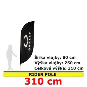 Reklamní vlajky - Reklamní vlajka Rider pole 310cm