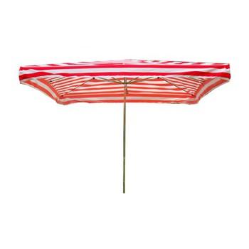 Slunečníky - Prodejní slunečník 3x2m červenobílý 15kg