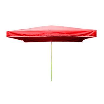 Slunečníky - Prodejní slunečník 3x2m červený 15kg