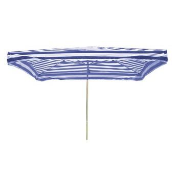Slunečníky - Prodejní slunečník 3x2m modrobílý 8kg