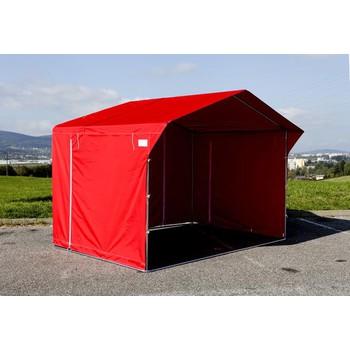 Prodejní stánky - Prodejní stánek 3 x 2 m - červený
