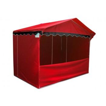 Prodejní stánky - Prodejní stánek 3 x 2 m Jarmark - červený