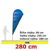 Reklamní vlajka Flyer 280cm