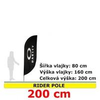 Reklamní vlajka Rider pole 200cm